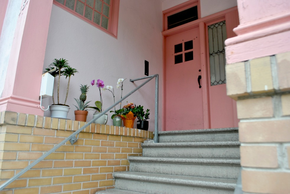 cute pink house